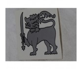 Sticker Lion Silver