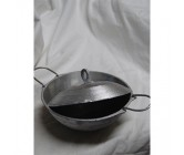 Hopper pan with two handles 18cm