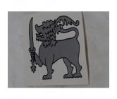 Sticker Lion Silver